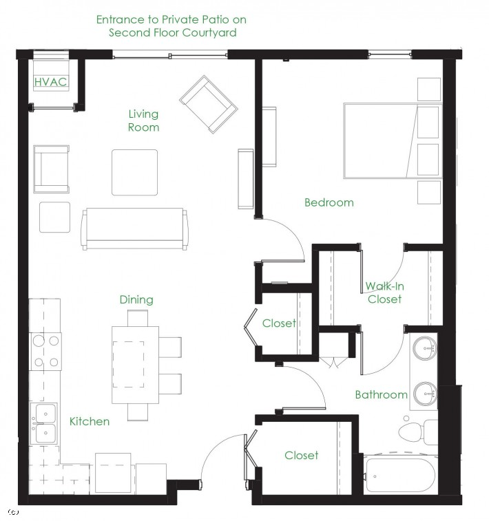 One Bedroom B3