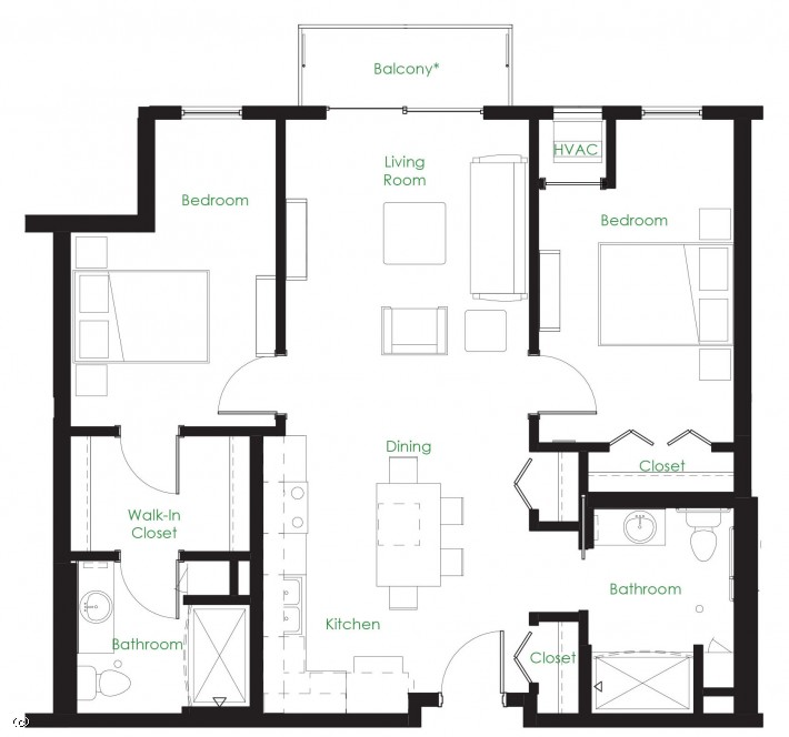 Two Bedroom C1ACC