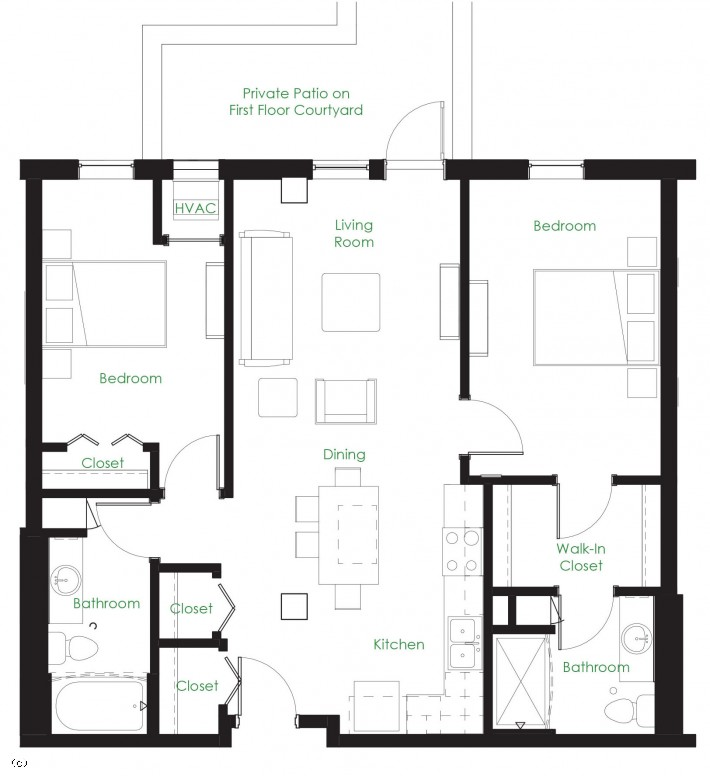 Two Bedroom C1D