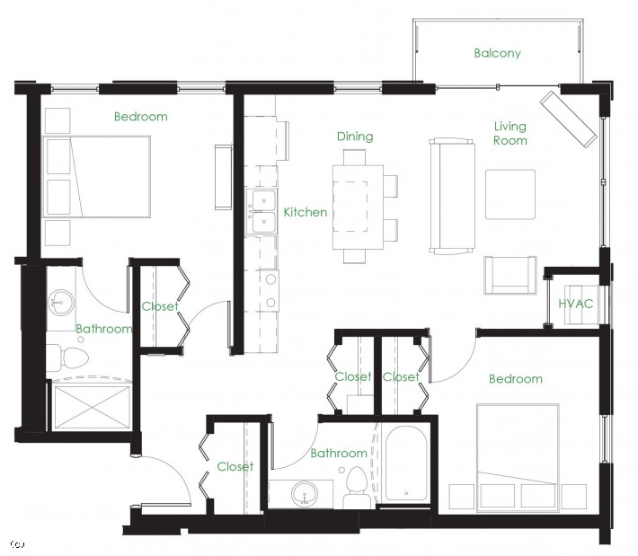 Two Bedroom C4