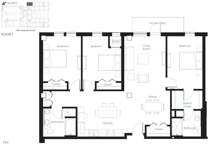 Three Bedroom D1A