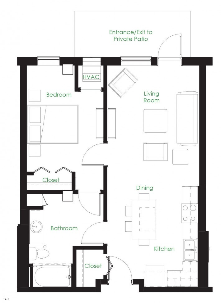 One Bedroom B1C