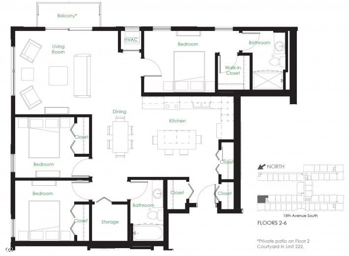 Three Bedroom D6